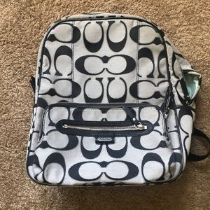 Coach Backpack with wristlet